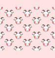 goat seamless on light pink background vector image