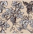grape vine vintage seamelss flourish ornate vector image