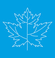 maple leaf icon outline style vector image