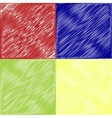 set of Abstract art curved lines colorful vector image