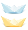 Two isolated paper ships vector image