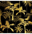 Golden Black Palm Trees Summer Seamless vector image