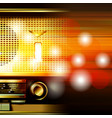 abstract grunge background with retro radio vector image vector image