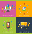 set of marketing design concepts vector image vector image