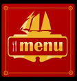 sail ship menu vector image vector image