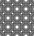 Seamless geometric pattern black and white simple vector image