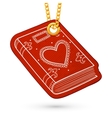 Book or album with heart vector image