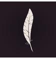 Feather sign icon Retro Logo ink pen Calligraphic vector image