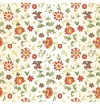 retro flower seamless vector image vector image
