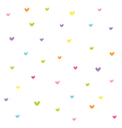Seamless colorful heart pattern vector image
