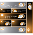Sun City vector image vector image
