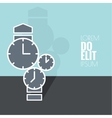 Abstract background with the clock vector image