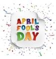April Fools Day greeting card vector image