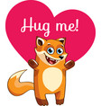 cartoon fox ready for a hugging vector image