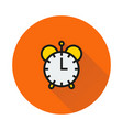 clock icon on round background vector image