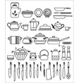 kitchen stuff6 vector image