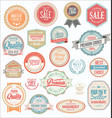 retro vintage badges and labels collection vector image