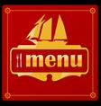 sail ship menu vector image
