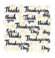 Thanksgiving Day Lettering Design Set vector image