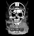 vintage motorcycle new york typography t-shirt vector image