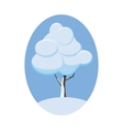 Winter tree icon cartoon style vector image