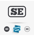 Swedish language sign icon SE translation vector image