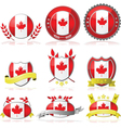 Canada badges vector image vector image