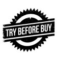 try before buy rubber stamp vector image