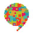 Pixelated diversity speech bubble vector image