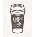 coffee time poster with cool design vector image