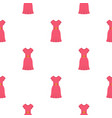 pink dress pattern seamless vector image