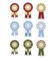 Set of rosettes vector image