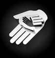 Paper hands vector image vector image