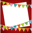 Bunting party color flags vector image vector image