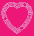 hearts doodle vector image