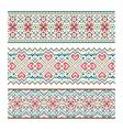 Embroidered handmade stitch Ukraine ethnic pattern vector image