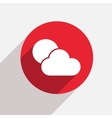 modern weather red circle icon vector image