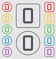 number zero icon sign Symbols on the Round and vector image