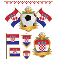 croatia flags vector image vector image