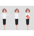 a set of a woman in business clothes in different vector image