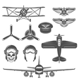 Airplane Icon Set vector image