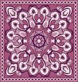 colored floral pattern vector image