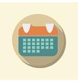 flat circle web icon calendar vector image