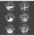 Label set with landmarks of San Francisco vector image