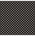 Seamless pattern white polka dots black background vector image