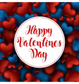 Volume 3D Realistic Red Hearts Background with vector image