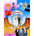 wedding celebration vector image