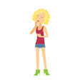 young woman laughing flat vector image