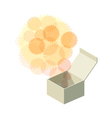 opened paper box vector image vector image