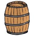 Old barrel vector image vector image